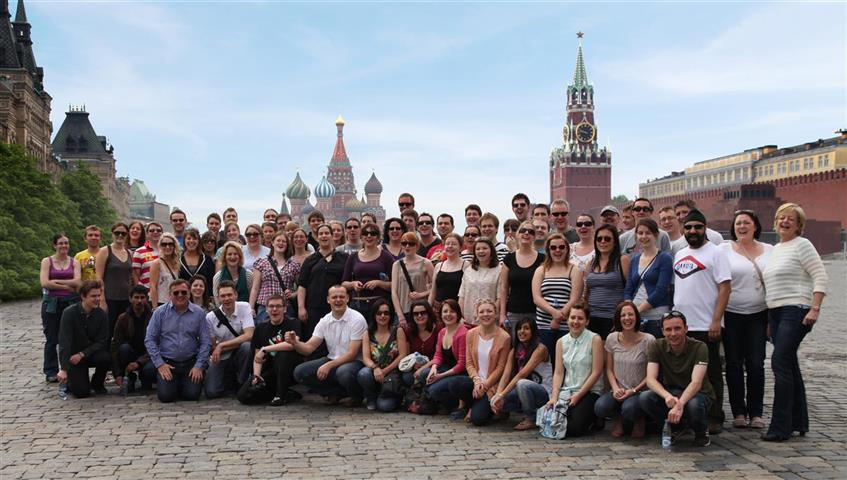 One of our groups on Moscow's Red Square